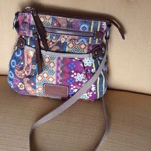 Cute Fossil canvas crossbody